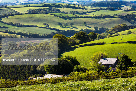 Farmland near Fowey, Cornwall, England, United Kingdom Stock Photo - Rights-Managed, Image code: 700-08122233