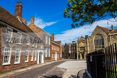 Buildings and street scene, King's Lynn, Norfolk, England, United Kingdom Stock Photo - Rights-Managed, Image code: 700-08145892