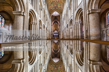 Mirrored image of Ely Cathedral, Ely, Cambridgeshire, England, United Kingdom Stock Photo - Rights-Managed, Image code: 700-08145900
