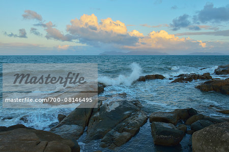 Rocky Granite Coastline, Rose Bay, Bowen, Queensland, Australia Stock Photo - Rights-Managed, Image code: 700-08146495