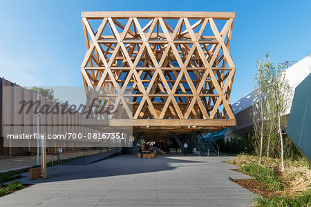 Chile Pavilion, designed by Cristian Undurraga at Milan expo 2015, Italy Stock Photo - Rights-Managed, Image code: 700-08167351