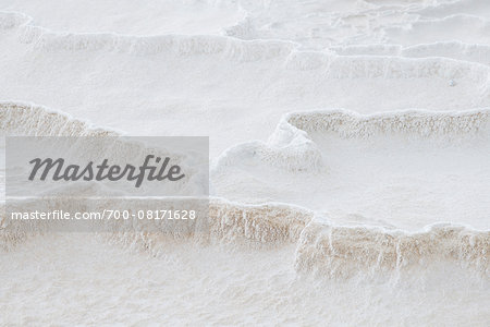 Travertine rock formations, Pamukkale, Turkey Stock Photo - Rights-Managed, Image code: 700-08171628