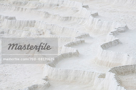 Travertine rock formations, Pamukkale, Turkey Stock Photo - Rights-Managed, Image code: 700-08171629