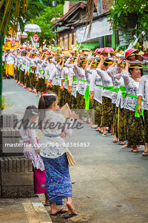 Procession at a cremation ceremony for a high priest in Ubud, Bali, Indonesia Stock Photo - Rights-Managed, Image code: 700-08385857