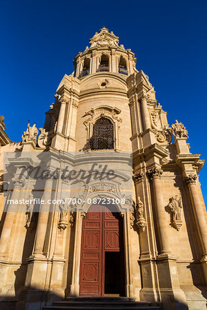 Orante, stone facade of the Baroque San Giuseppe Church in Ragusa in Sicily, Italy Stock Photo - Rights-Managed, Image code: 700-08723108