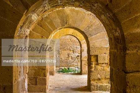 Archways at Castello Maniace on Ortygia, Syracuse, Sicily, Italy Stock Photo - Rights-Managed, Image code: 700-08723216