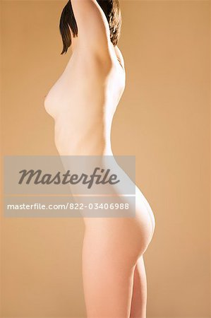 Profile of a nude woman Stock Photo - Rights-Managed, Image code: 822-03406988