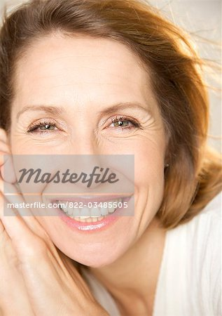 Close up portrait of a woman Stock Photo - Rights-Managed, Image code: 822-03485505