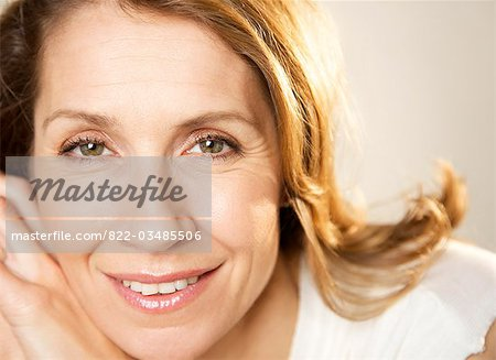 Close up portrait of a woman Stock Photo - Rights-Managed, Image code: 822-03485506