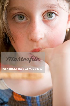 Girl Sucking her Thumb Stock Photo - Rights-Managed, Image code: 822-03602107