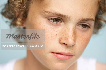 Blond Boy - Close-up view Stock Photo - Rights-Managed, Image code: 822-03780642