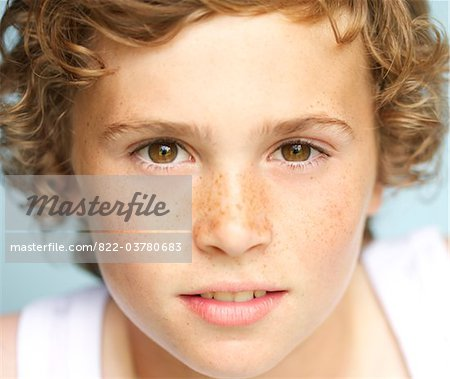 Blond Boy - Close-up view Stock Photo - Rights-Managed, Image code: 822-03780683