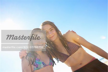 Teenage Girls Hugging Stock Photo - Rights-Managed, Image code: 822-03780732