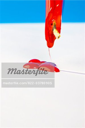 Red Sealing Wax Dripping on White Envelope Stock Photo - Rights-Managed, Image code: 822-03780905