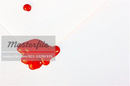 Red Sealing Wax on White Envelope