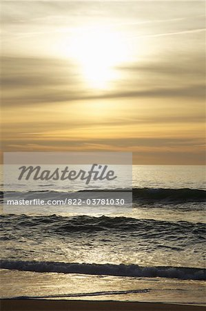 Waves of the Ocean at Sunrise Stock Photo - Rights-Managed, Image code: 822-03781030