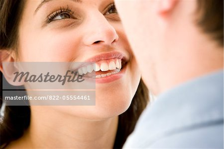 Smiling Woman Looking at Man Stock Photo - Rights-Managed, Image code: 822-05554461
