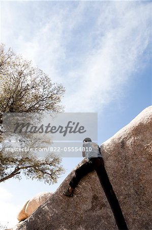 Rock Climber Free Climbing Stock Photo - Rights-Managed, Image code: 822-05554810