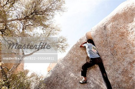 Rock Climber Free Climbing Stock Photo - Rights-Managed, Image code: 822-05554811