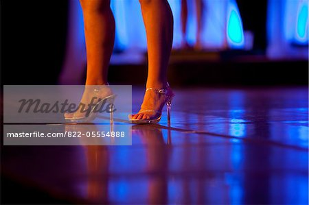 Woman's Legs and Feet with High Heels on Stage Stock Photo - Rights-Managed, Image code: 822-05554888