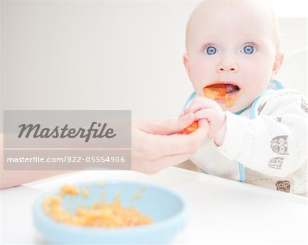 Mother Feeding Baby Stock Photo - Rights-Managed, Image code: 822-05554906
