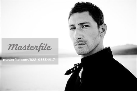 Handsome Man Outdoors, Close-up view Stock Photo - Rights-Managed, Image code: 822-05554917