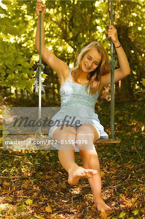 Teenage Girl on Swing - Stock Photo - Masterfile - Rights-Managed ...