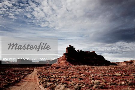 Unmade Road and Sandstone Formations Stock Photo - Rights-Managed, Image code: 822-05555062