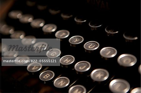 Typewriter Keys, Close-up view Stock Photo - Rights-Managed, Image code: 822-05555121