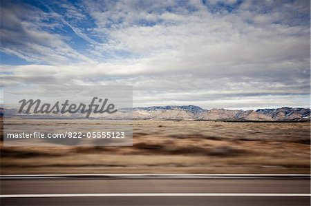 Highway and Mountain Landscape, Blurred Motion Stock Photo - Rights-Managed, Image code: 822-05555123