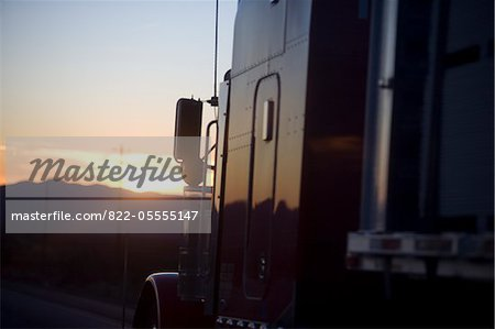 Truck at Sunset, Close-up view Stock Photo - Rights-Managed, Image code: 822-05555147