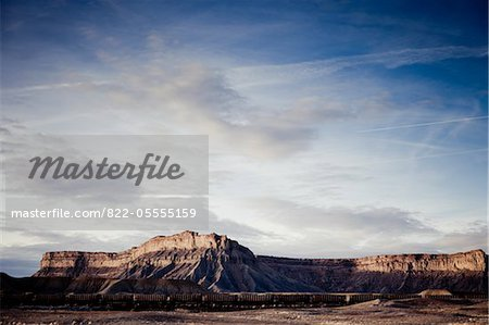 Mountain Landscape and Freight Train Stock Photo - Rights-Managed, Image code: 822-05555159