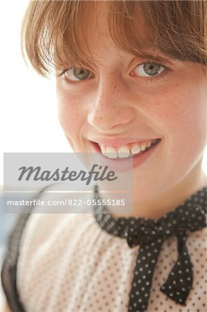 Smiling Young Girl Stock Photo - Rights-Managed, Image code: 822-05555185