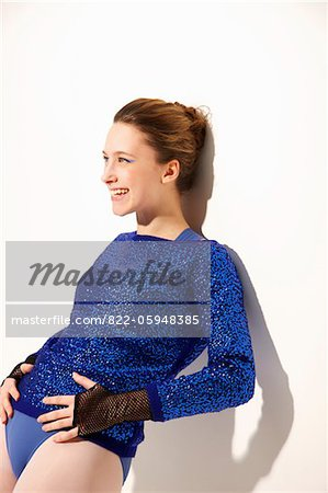 Smiling Ballet Dancer Stock Photo - Rights-Managed, Image code: 822-05948385