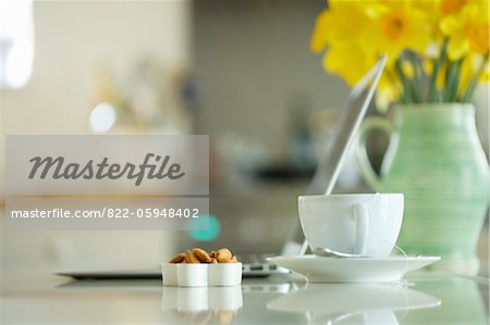 Tea Cup and Almonds Stock Photo - Rights-Managed, Image code: 822-05948402