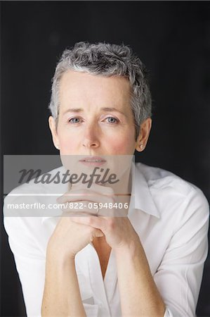 Portrait of Mature Woman Stock Photo - Rights-Managed, Image code: 822-05948406