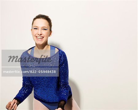 Smiling Ballet Dancer Stock Photo - Rights-Managed, Image code: 822-05948438