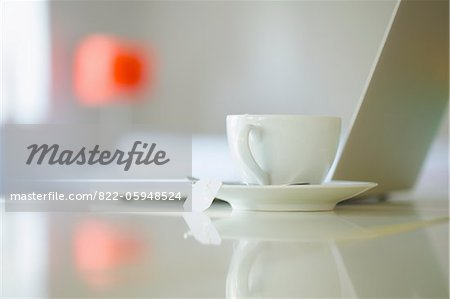 Tea Cup and Laptop Stock Photo - Rights-Managed, Image code: 822-05948524
