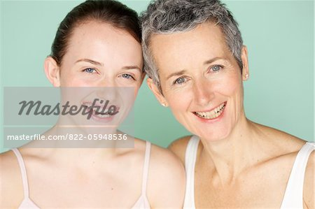 Smiling Mother and Daughter Stock Photo - Rights-Managed, Image code: 822-05948536