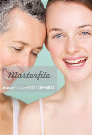 Smiling Mother and Daughter Stock Photo - Rights-Managed, Image code: 822-05948593