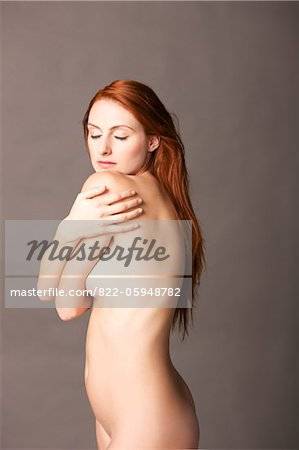 Nude Woman Looking over shoulder Stock Photo - Rights-Managed, Image code: 822-05948782