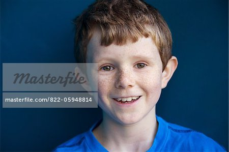 Portrait of Smiling Boy Stock Photo - Rights-Managed, Image code: 822-05948814