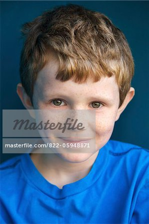 Portrait of Smiling Boy Stock Photo - Rights-Managed, Image code: 822-05948871