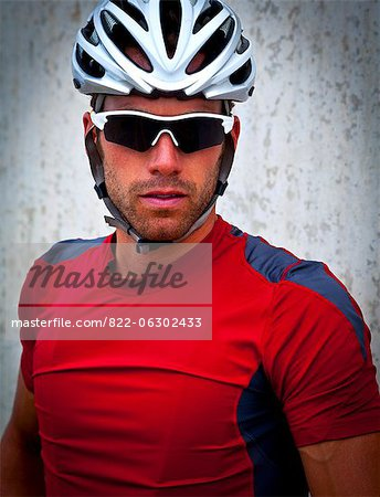 Portrait of Cyclist Stock Photo - Rights-Managed, Image code: 822-06302433