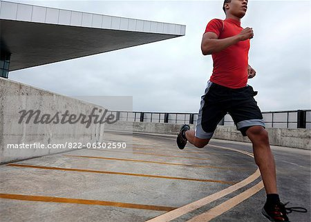 Man Running Outdoors Stock Photo - Rights-Managed, Image code: 822-06302590