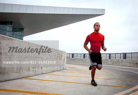 Man Running Outdoors Stock Photo - Rights-Managed, Image code: 822-06302610