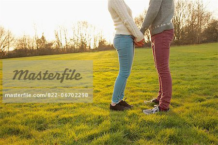 Young Couple Holding Hands in Field, Low Section Stock Photo - Rights-Managed, Image code: 822-06702298