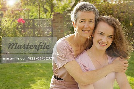 Portrait of Mother and Daughter Stock Photo - Rights-Managed, Image code: 822-06702378