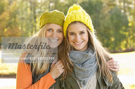 Portrait of Mother and Daughter Smiling Stock Photo - Rights-Managed, Image code: 822-06702390