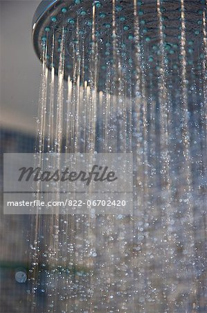 Water Running from Showerhead, Close-up view Stock Photo - Rights-Managed, Image code: 822-06702420